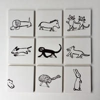 "Laura Carlin tiles ""Animal circus"""