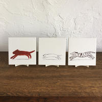 "Laura Carlin tiles   ""Chasers"""