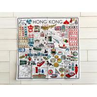 ハンカチ HONG KONG MAP