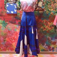 デコラボリュームマチスカート「wear blue petals 」