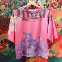 ワイドTシャツ「Blue petals」
