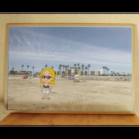 """""""Oceanside Beach"""" Framed Art Print"""