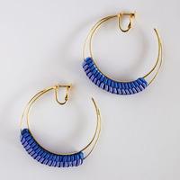 Luna / Clip on Earring  Blue イヤリング
