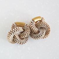 Klein bottle  / Pierced Earring Beige ピアス