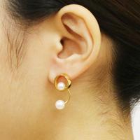 Pendulum / Pierced Earrings Gold ピアス