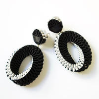 Mobius /  Pierced Earrings    Black ピアス