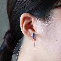 Line / Pierced Earrings    Iolite  (single)  ピアス