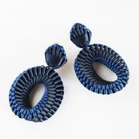 Mobius / Clip on Earrings Navy イヤリング