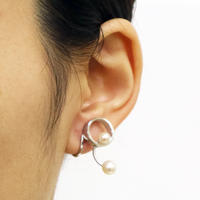 Pendulum / Clip on Earrings Silver イヤリング