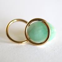Circle / Pierced Earring   Emerald  ピアス(single)