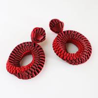 Mobius / Clip on Earrings Red イヤリング