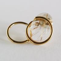 Circle / Pierced Earring Rutile quartzピアス