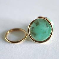 Circle / Clip on Earring   Emerald イヤリング (single)