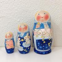 イリーナ・ヴァトゥルーシキナ作マトリョーシカ【Moon Rabbits】