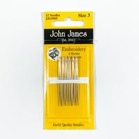 John James刺繍針 Size3