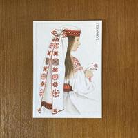 エストニア民族衣装ポストカード【TARVASTU】