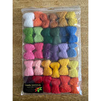 ムフ刺繍用ウール刺繍糸30色セット