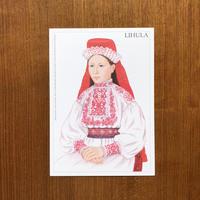 エストニア民族衣装ポストカード【LIHULA】
