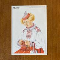 エストニア民族衣装ポストカード【MUHU】