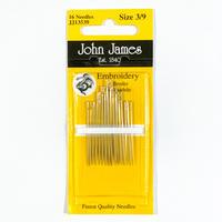 John James刺繍針アソートパック Size3〜9