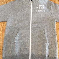 THE CHIKURA UMI BASECAMP  Original Embroidery ZipUp Hoodie /  Gray