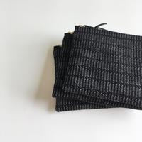 手織り布ミニポーチ (ブラックアリニア/Black Alinea Accessory case)