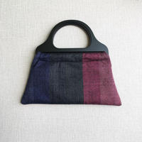 手織り ウッドハンドルバッグ ( 紫陽花 Ajisai)