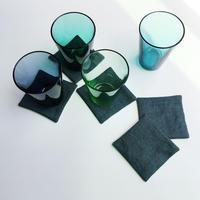手織りコースター ( Coaster  Herringbone Linen 2 )