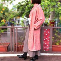 大きいサイズ、さらりと羽織れる軽めアウター、きものリメイク一重ロングコート