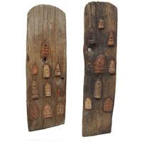 ブッダの古木アート 、木簡 BUDDHA embedded in the old wood