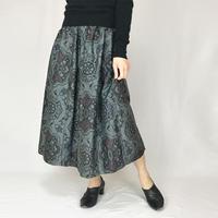 きものリメイクロングスカート、大島、フリーサイズ