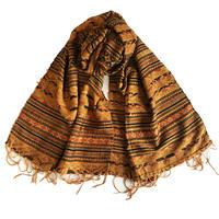 山繭糸で織った上質シルクの大判ショール