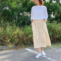 きものリメイク、朱赤十字絣が可愛い絹の着物スカート、フリーサイズ