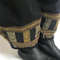 XL~XXLサイズ、ジョムトン手織り綿のもんぺパンツ、ヤオ刺繍付き、オールシーズン