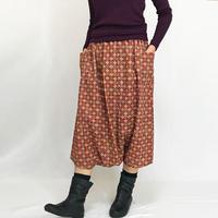 着物リメイク、とろみ素材のちりめん小紋が可愛いサルエルパンツ