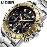 腕時計 MEGIR クロノグラフ クォーツ メンズ ウォッチ 2019新モデル 951