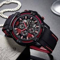 腕時計 MEGIR クロノグラフ シリコンストラップ クォーツ メンズ ウォッチ 673