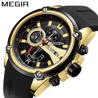 腕時計 MEGIR クロノグラフ クォーツ メンズ ウォッチ 112