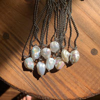 pearl ball chain necklace
