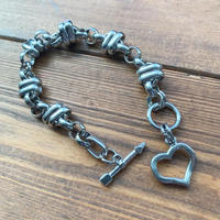 rugged chain heart bracelet