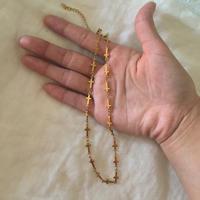 gold cross choker necklace
