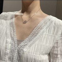 clear snake necklace
