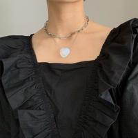 heart stone snake necklace