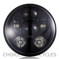 LEDプロジェクターヘッドライト5-3/4ブラック