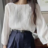 bas standard pintack blouse(即納)