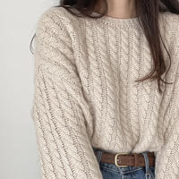 VEGETABLE alpaca cable knit(即納)