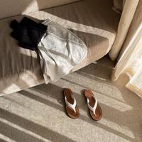 leather flip flat (予約)