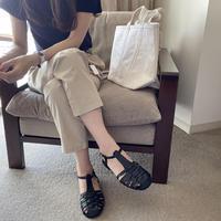 mesh ankle strap sandal(予約)