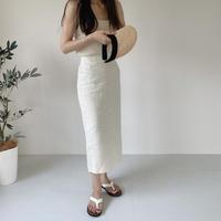 VEGETABLE linen skirt(即納)
