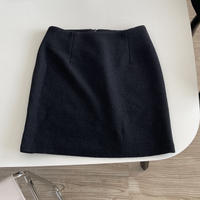 VEGETABLE black tweed mini sk(即納)